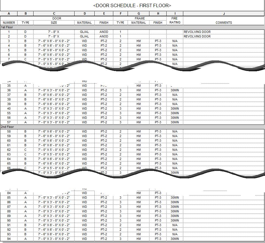 SS - unfiltered schedule