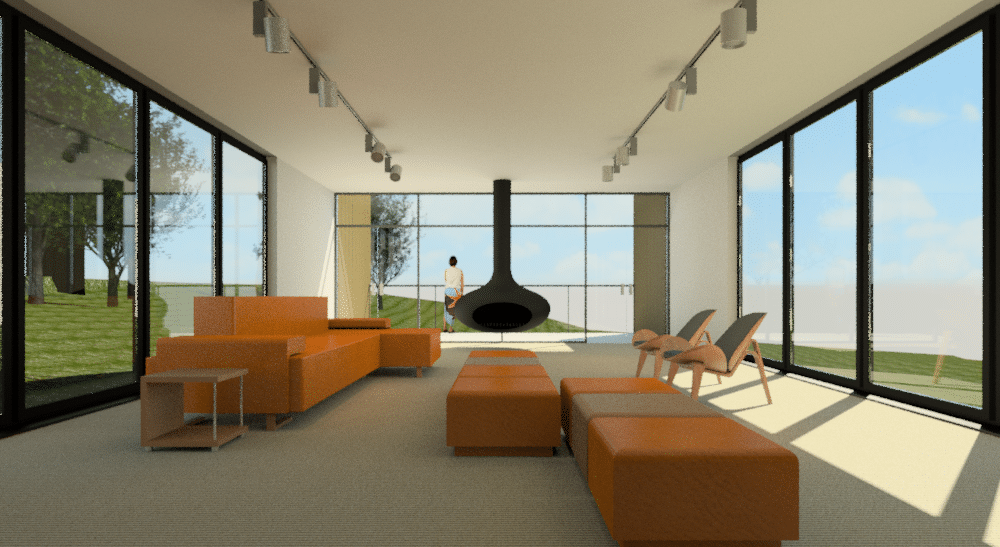 Rendering in realistic mode revit vs photoshop cadd for 10 living room cafe by eplus