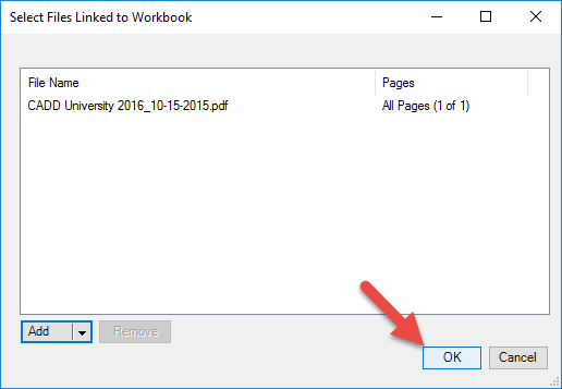 Selecting PDFs to Link into Excel