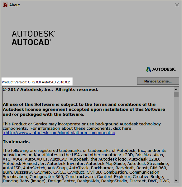AutoCAD 2018.0.2 Update Applied