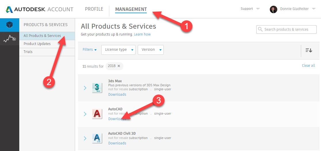 Autodesk Account Website