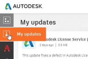 Autodesk Desktop Application my Updates