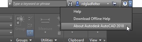 AutoCAD InfoCenter Toolbar