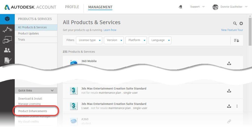 Autodesk Product Enhancements