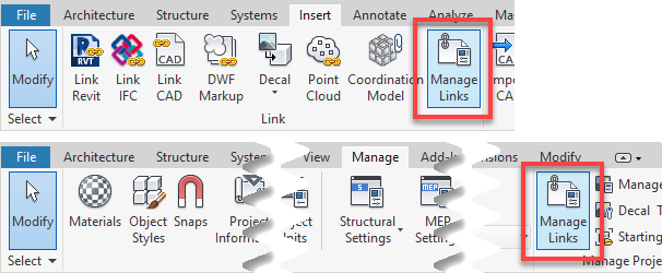 Ribbon - Manage Links Tool