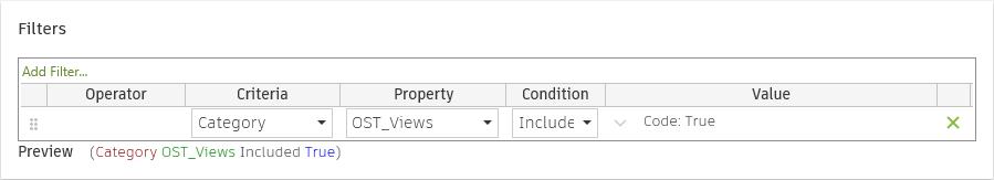 Revit Model Checker checkset filter for Categories of OST_Views