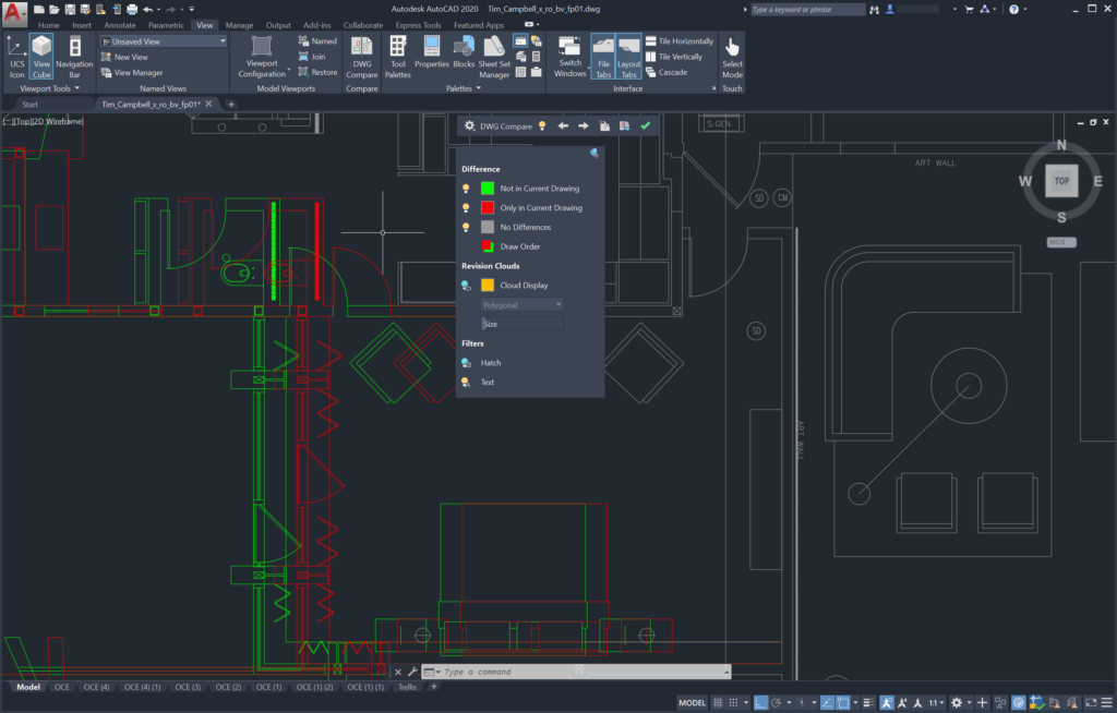 AutoCAD 2020 - Enhanced Drawing compare