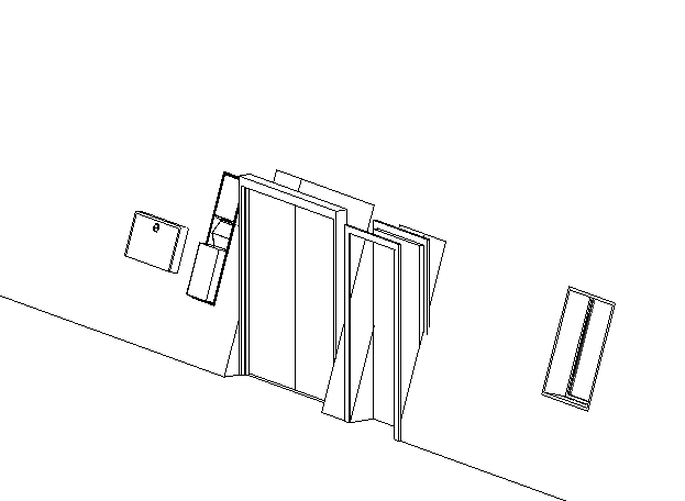 Revit Slanted wall with Doors and Windows