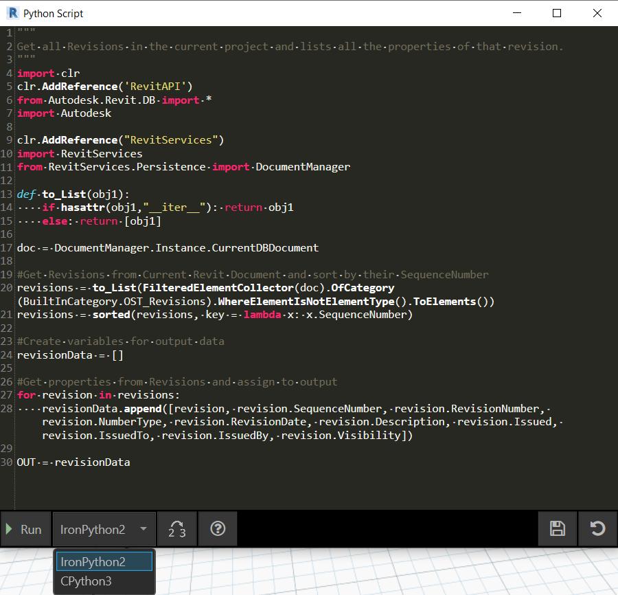 Dynamo Python Editor Update