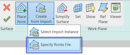 Revit Create Topography by Importing point file
