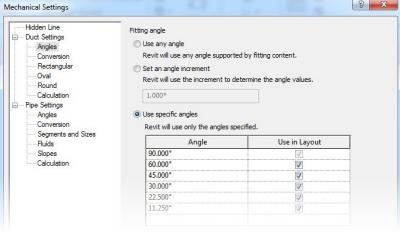 Autodesk Revit MEP 2014 - Angle Constraints