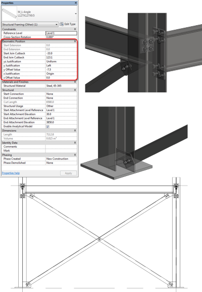 Autodesk Revit Structure 2014 - Improved Positioning of Beams and Braces