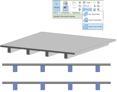 Autodesk Revit Structure 2014 - Join Geometry Ordering