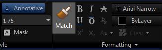 MTEXT Match Properties